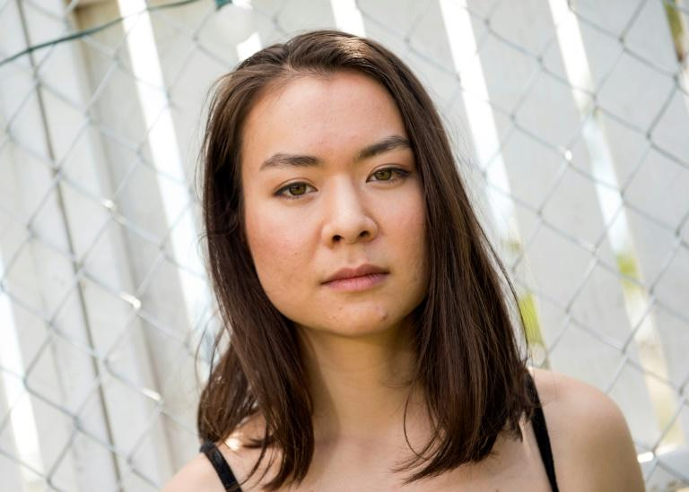 Musician Mitski poses  at Coachella Valley Music And Arts Festival on April 16, 2017, in Indio, California