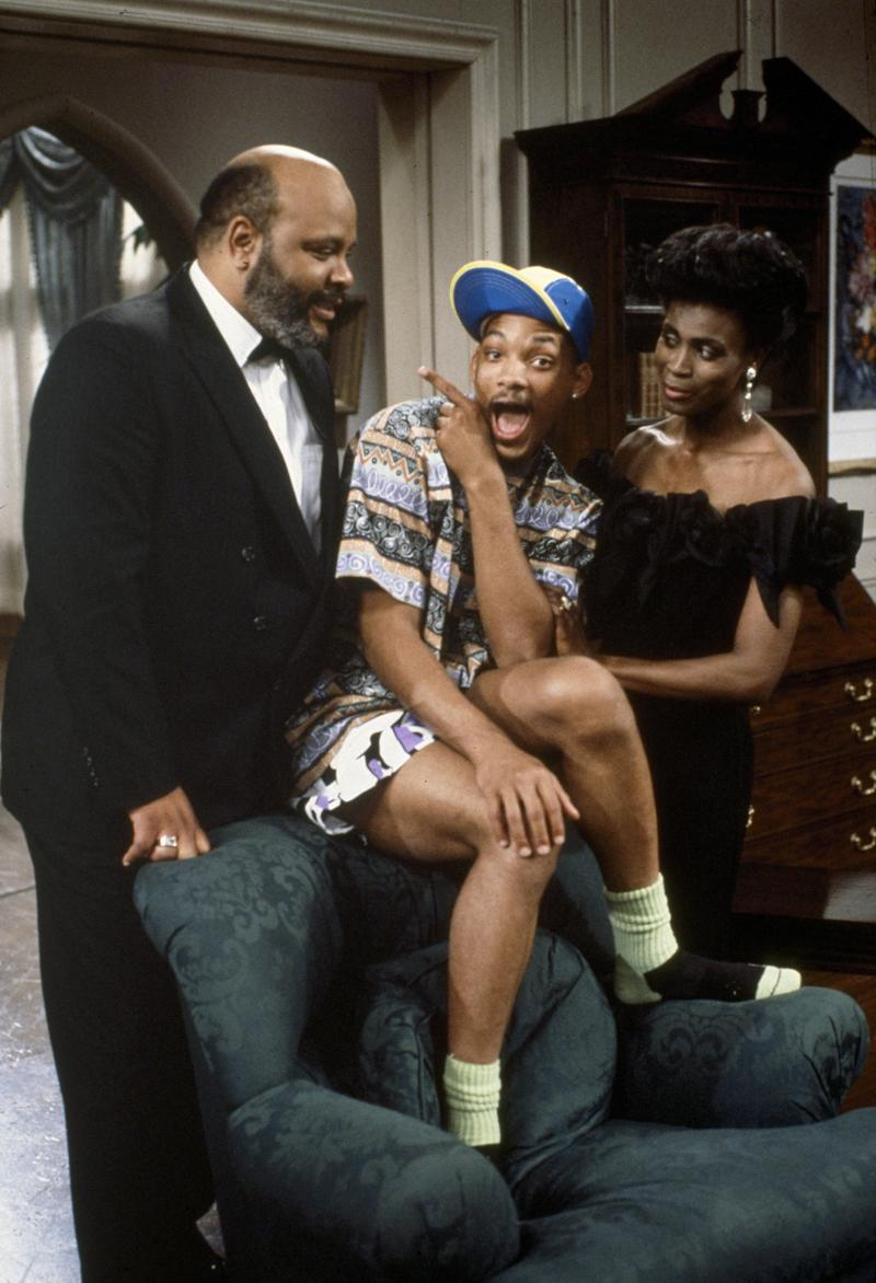 "THE FRESH PRINCE OF BEL-AIR -- Season 1 -- Pictured: (l-r) James Avery as Philip Banks, Will Smith as William ""Will"" Smith, Janet Hubert as Vivian Banks -- Photo by: Chris Haston/NBCU Photo Bank"