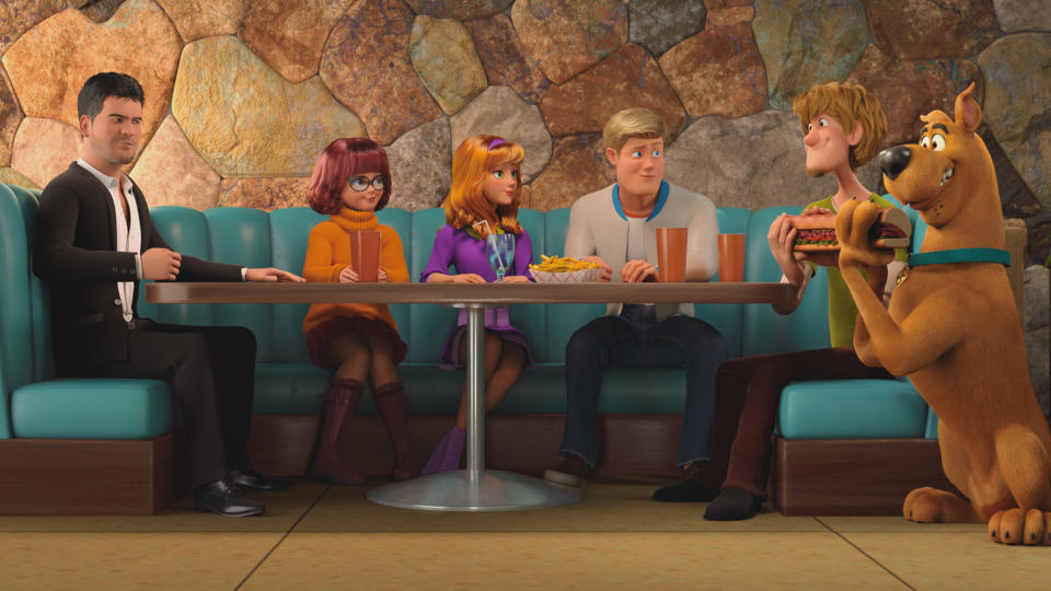 Simon Cowell pops up in 'Scoob!'. (Credit: Warner Bros)