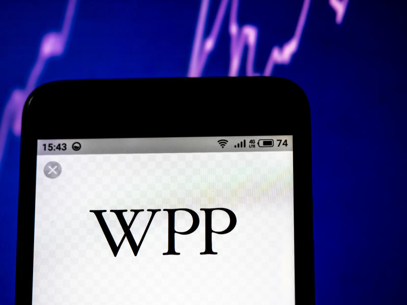 WPP plc company logo seen displayed on a smart phone. Photo: by Igor Golovniov/SOPA Images/LightRocket via Getty Images