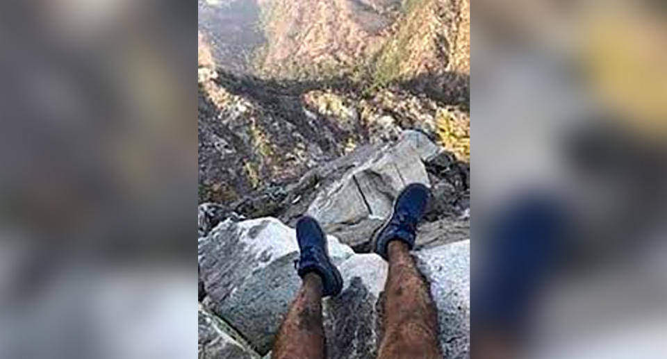Rene Compean sent this photo to a friend before he got lost. Source: Los Angeles County Sheriff's Department