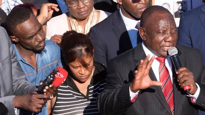 In February, President Ramaphosa tried to reassure the angry crowd in Elsies River