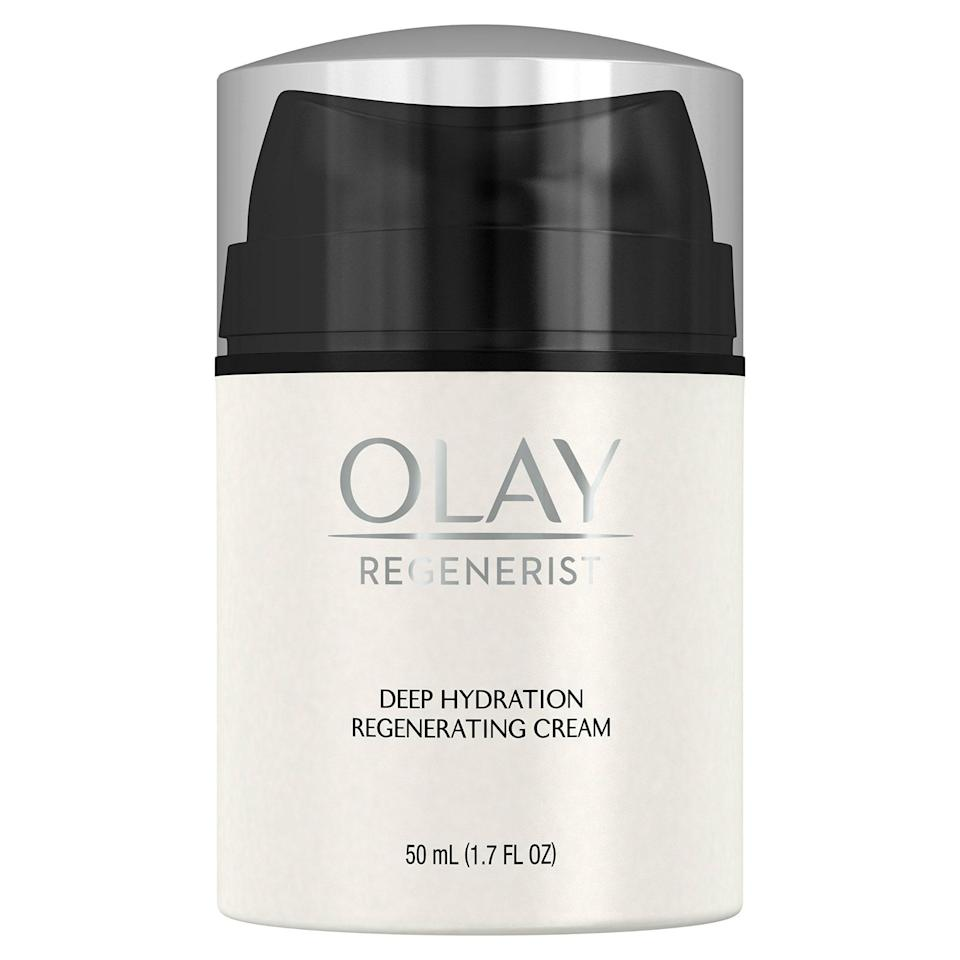 """<p>Olay's Deep Hydration Regenerating Cream is a veteran <a href=""""https://www.allure.com/beauty-products/best-of-beauty?mbid=synd_yahoo_rss"""" rel=""""nofollow noopener"""" target=""""_blank"""" data-ylk=""""slk:Best of Beauty Award winner"""" class=""""link rapid-noclick-resp"""">Best of Beauty Award winner</a> (it took home the accolade in 2015), but still remains one of our all-time favorite moisturizers. With a formula rich in amino-peptides and exfoliating properties, this cream truly belongs in the skin-care hall of fame.</p> <p><strong>$18</strong> (<a href=""""https://www.amazon.com/Moisturizer-Olay-Regenerist-Regenerating-Hydration/dp/B00008ZPG9"""" rel=""""nofollow noopener"""" target=""""_blank"""" data-ylk=""""slk:Shop Now"""" class=""""link rapid-noclick-resp"""">Shop Now</a>)</p>"""