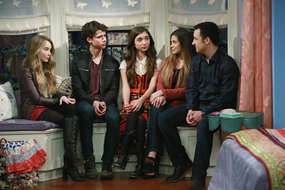 "Cory (Ben Savage) and Topanga (Danielle Fishel), at right, returned in the ""Boy Meets World"" sequel,  ""Girl Meets World."" The Disney Channel show features the classic couple raising their daughter, Riley."
