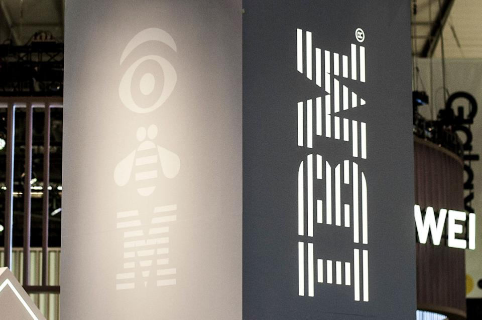 IBM logo exhibited during the Mobile World Congress, on February 28, 2019 in Barcelona, Spain.   (Photo by Joan Cros/NurPhoto via Getty Images)