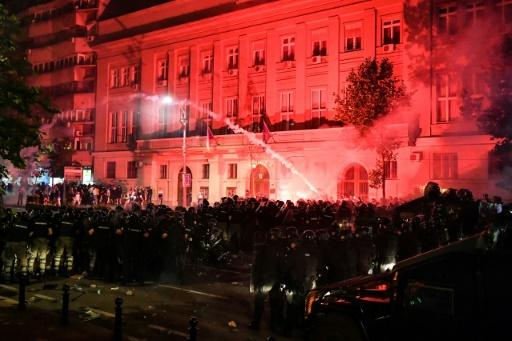 Thousands protest against Serbian leader despite warnings of virus risk