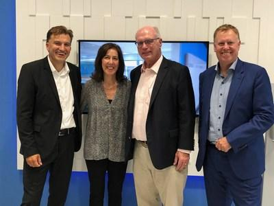 Digital Realty Chief Executive Officer A. William Stein, Chief Human Resources Officer Cindy Fiedelman and Vice President of Sales for Europe Phil Barnett welcome Christian Zipp, newly appointed Vice President of Sales for Western Europe.