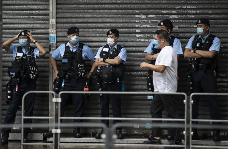 Hundreds of police were deployed ahead of planned demonstrations