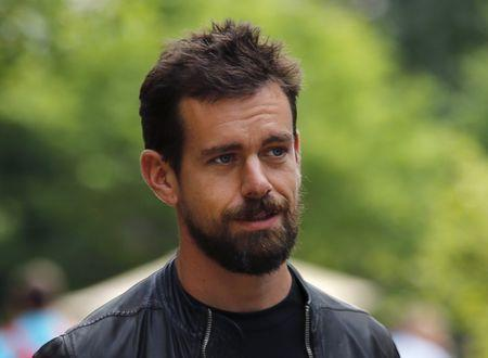 Jack Dorsey, interim CEO of Twitter and CEO of Square, goes for a walk on the first day of the annual Allen and Co. media conference in Sun Valley, Idaho, in this file photo taken July 8, 2015. REUTERS/Mike Blake/Files