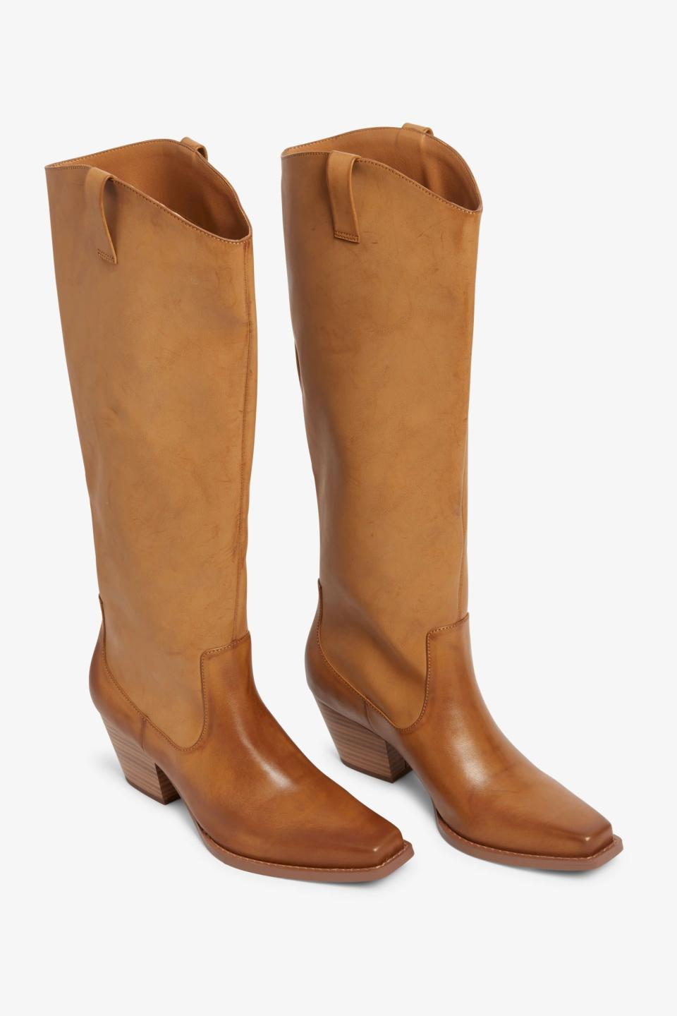 """<br><br><strong>Monki</strong> Knee-High Cowboy Boots, $, available at <a href=""""https://www.monki.com/en_gbp/accessories/shoes/boots/product.knee-high-cowboy-boots-beige.0877481005.html"""" rel=""""nofollow noopener"""" target=""""_blank"""" data-ylk=""""slk:Monki"""" class=""""link rapid-noclick-resp"""">Monki</a>"""
