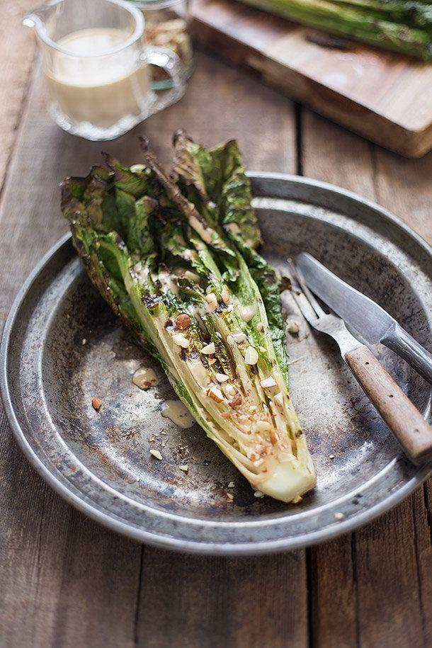 "<strong>Get the <a href=""http://slimpalate.com/grilled-romaine-with-toasted-almonds-and-caesar-dressing/"" target=""_blank"">Grilled Romaine With Toasted Almonds recipe</a> from Slim Palate</strong>"
