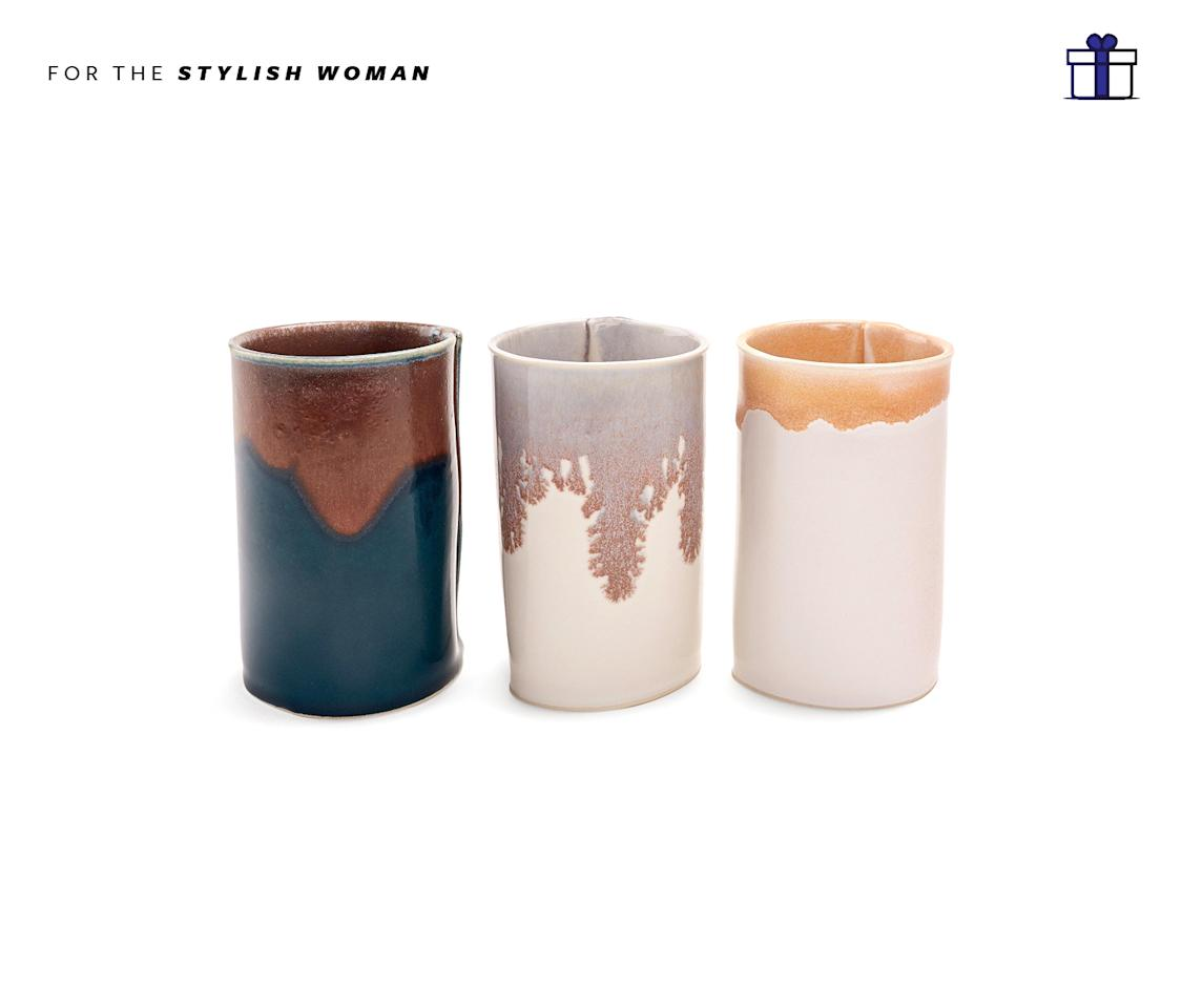 """<p>Artful, decorative vases to display beautiful flowers. Brookyln Ceramics Porcelain Bud Vases, starting at $30, <a rel=""""nofollow"""" href=""""http://www.abchome.com/shop/wilcoxson-brooklyn-ceramics-porcelain-bud-vases-1484265-1484264-1484262-group"""">abchome.com</a> </p>"""