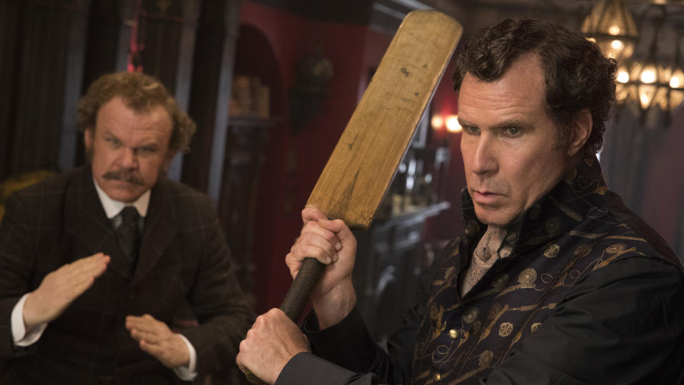 John C. Reilly and Will Ferrell in 'Holmes and Watson'. (Credit: Sony)