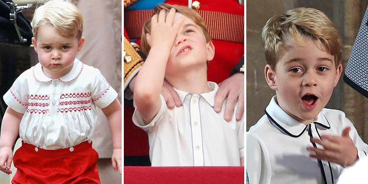 <p>From his appearances on royal tours to walking down the aisle at royal weddings, Prince George never fails to give a hilarious moment. With expressions that range from glee to pure sass, the little royal always seems to have a face for the range of emotions you feel. Here, we take a look at some of his funniest, sassiest, and pure Prince George moments over the years. </p>