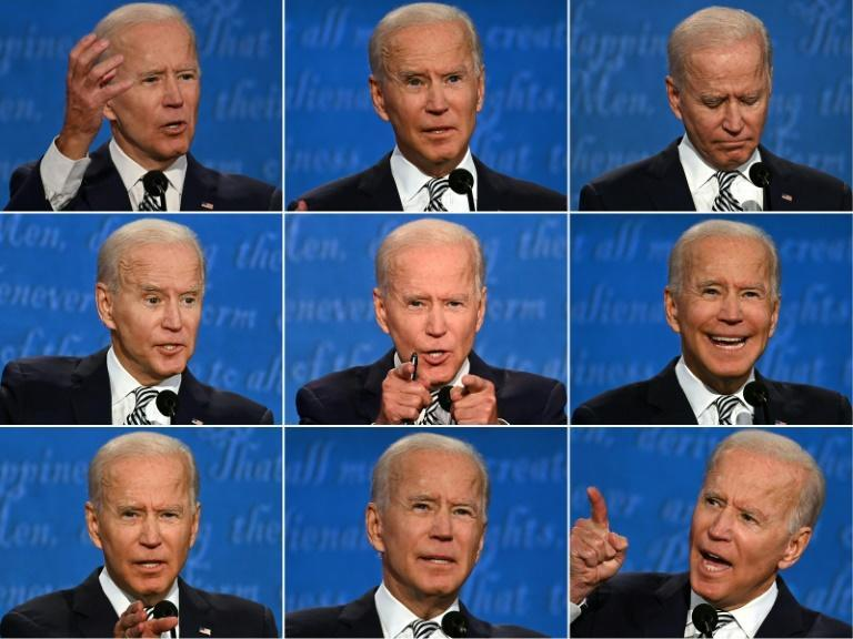 Biden mostly kept his composure as he went toe-to-toe with Trump for the full 90 minutes