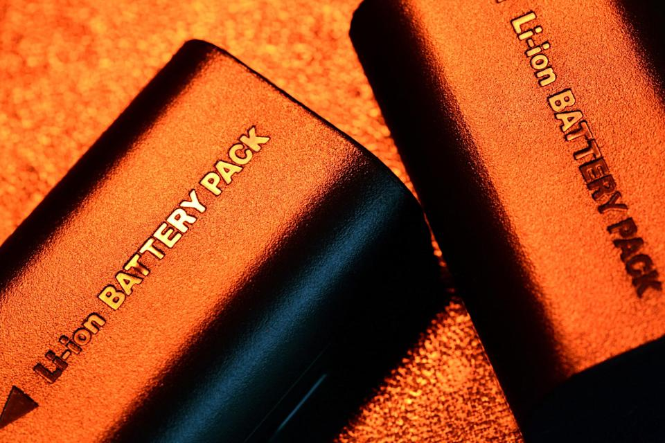 Two lthium-ion battery packs.