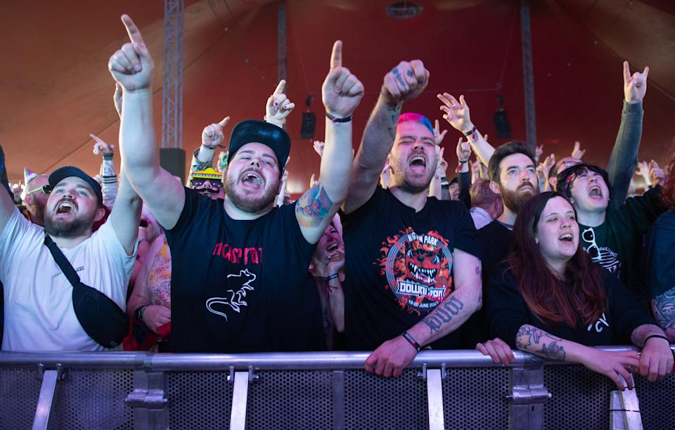 Download's reduced 10,000 capacity festival was part of a UK government test event to examine how Covid-19 transmission takes place in crowds. (Photo by Katja Ogrin/Getty Images)