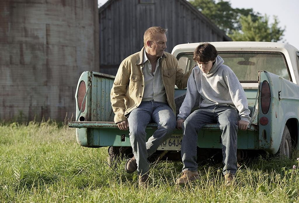 (L-r) KEVIN COSTNER as Jonathan Kent and DYLAN SPRAYBERRY as Clark Kent (13 years) in Warner Bros. Pictures? and Legendary Pictures? action adventure ?MAN OF STEEL,? a Warner Bros. Pictures release.