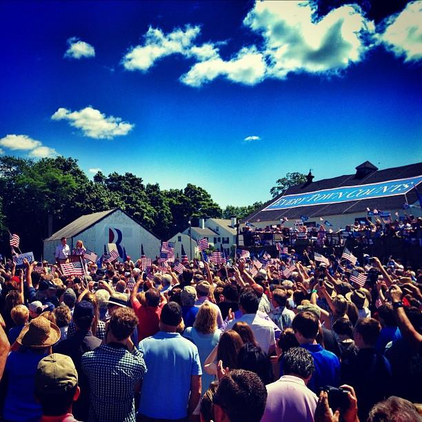 Mitt and Ann Romney in Stratham, NH on Friday, June 15. (Holly Bailey/Yahoo News)