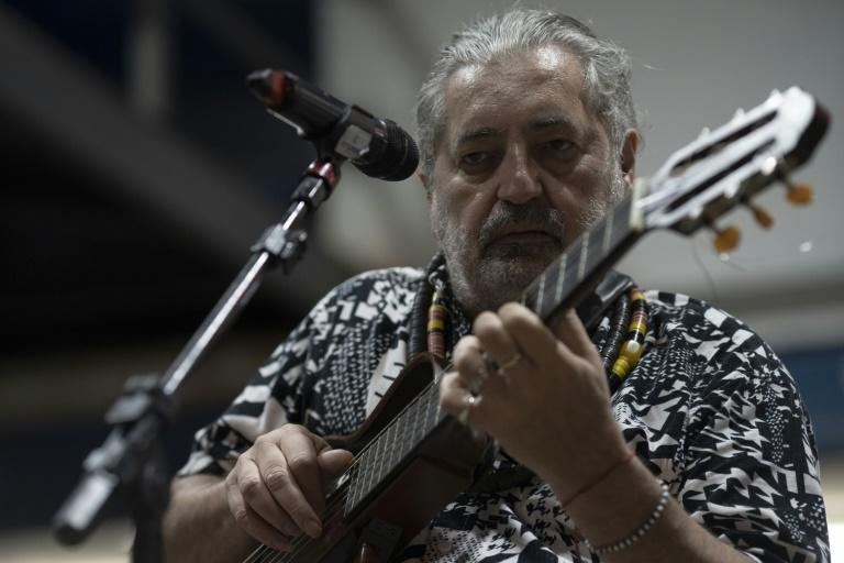 Moacyr Luz, pictured, says playing samba without a crowd was like a footballer scoring a goal without celebrating