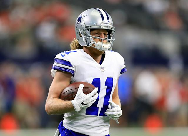"""<a class=""""link rapid-noclick-resp"""" href=""""/nfl/teams/dal"""" data-ylk=""""slk:Dallas Cowboys"""">Dallas Cowboys</a> wide receiver <a class=""""link rapid-noclick-resp"""" href=""""/nfl/players/26060/"""" data-ylk=""""slk:Cole Beasley"""">Cole Beasley</a> said he is """"being taught"""" to run routes for the first time in his NFL career under new wide receivers coach Sanjay Lal. (Getty Images)"""