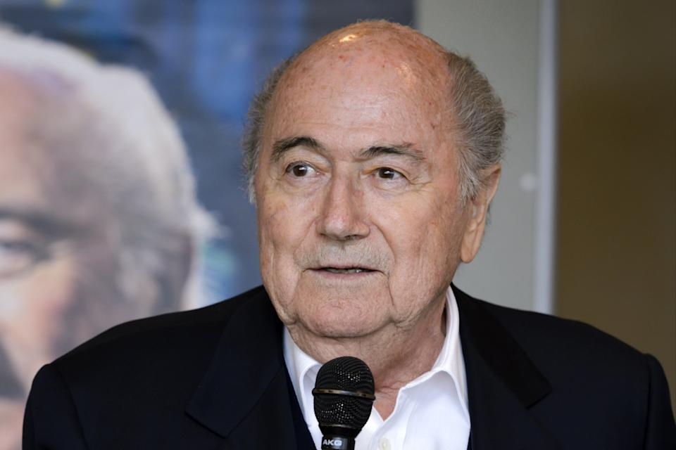<p>Ex-Fifa president Sepp Blatter has been hospitalised in Switzerland</p> (AFP via Getty Images)