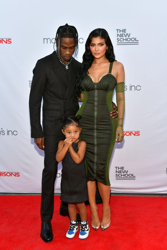 Kylie Jenner and Travis Scott already have a daughter, Stormi, three, pictured in June, 2021 in New York. (Getty Images)