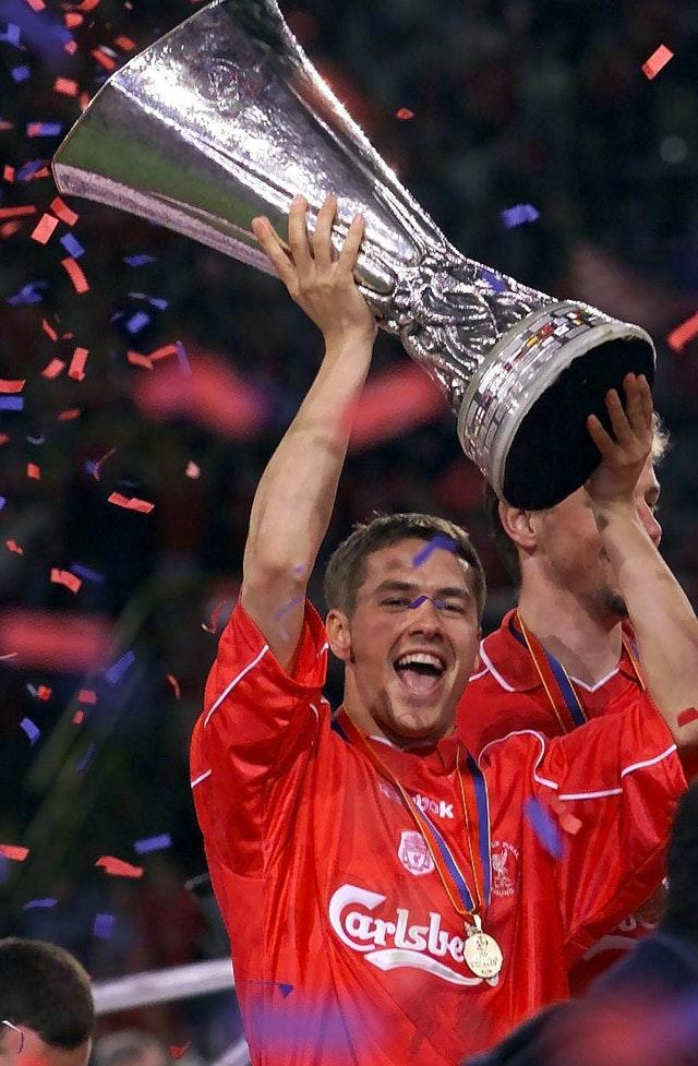 Owen's trophy haul in 2001 also included the UEFA Cup (David Davies/PA).
