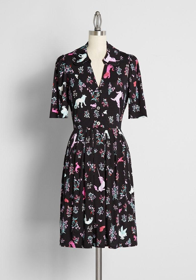 <p>The <span>ModCloth Inviting Me For Tea? A-Line Dress</span> ($69) is such a fun and charming find they'll love to wear all year round. It's so flattering with a gorgeous v-neckline and sinched waist.</p>
