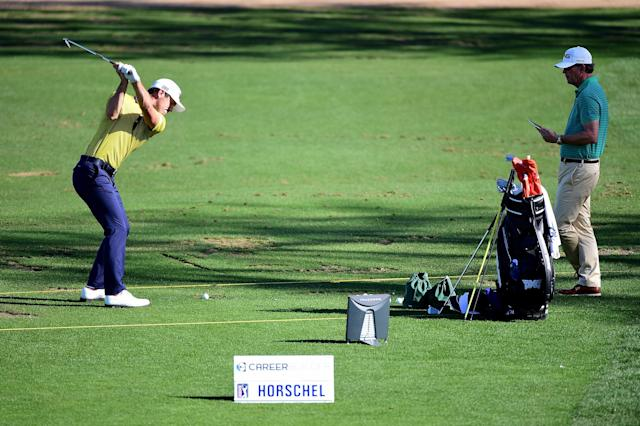 "<h1 class=""title"">CareerBuilder Challenge In Partnership With The Clinton Foundation - Preview Day 3</h1> <div class=""caption""> Horschel spends a good amount of time at the range each day, fine-tuning his swing, sometimes under the eye of swing coach Todd Anderson. </div> <cite class=""credit"">Harry How/Getty Images</cite>"