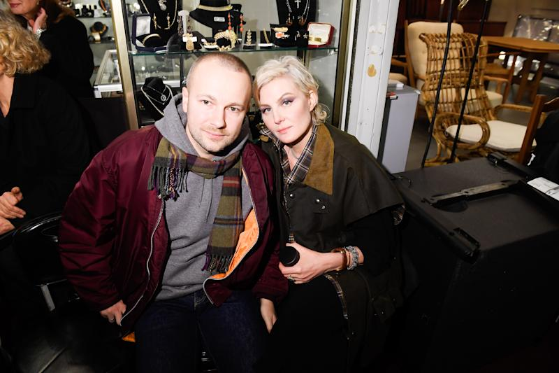 PARIS, FRANCE - JANUARY 19: Gosha Rubchinskiy and Renata Litvinova attend the Vetements Menswear Fall/Winter 2018-2019 show as part of Paris Fashion Week on January 19, 2018 in Paris, France. (Photo by Victor Boyko/Getty Images)