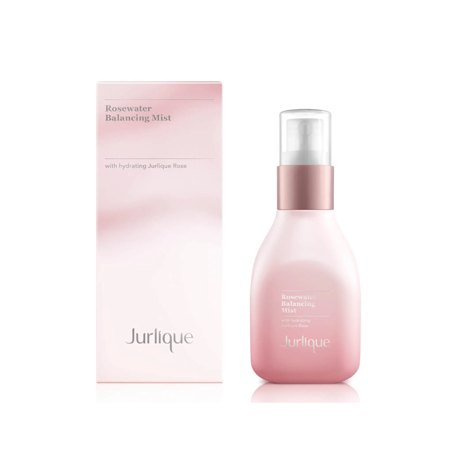 """This is hands-down the most gorgeous bottle, with its pink gradient design. But looks aside, I love Jurlique's rosewater mist because it's such a refreshing spritz of hydration on these hot summer days and leaves my skin glowing for hours after. —<em>J.R.</em> $25.6, SkinStore. <a href=""""https://www.skinstore.com/jurlique-rosewater-balancing-mist-50ml/12174273.html"""" rel=""""nofollow noopener"""" target=""""_blank"""" data-ylk=""""slk:Get it now!"""" class=""""link rapid-noclick-resp"""">Get it now!</a>"""