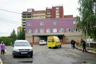 The hospital at Omsk where Navalny is undergoing treatment