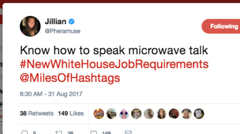 #NewWhiteHouseJobRequirements Might Make This Administration More Efficient