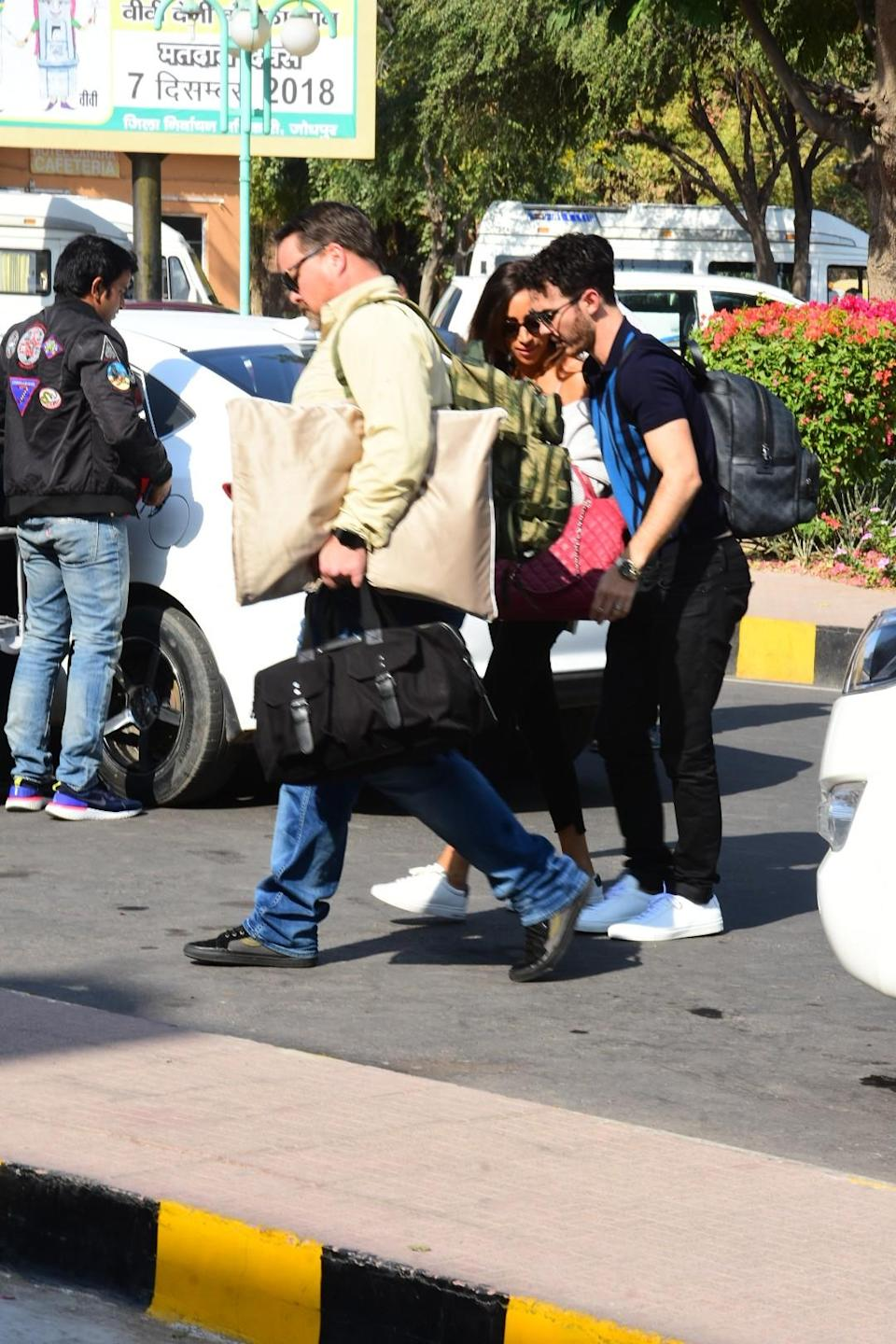 <p>Guests leave from Jodhpur after attending Nickyanka's wedding </p>
