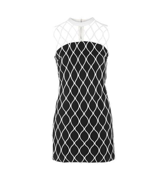 """<p>Cage High Neck Shift Dress, $230, <a href=""""http://us.topshop.com/en/tsus/product/clothing-70483/dresses-70497/cage-high-neck-shift-dress-5160453?bi=280&ps=20"""">topshop.com</a></p>"""