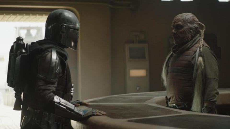 <p> <strong>Episode 1</strong> </p> <p> Notice anything about the barman in Mos Pelgo? The alien may be a little skittish but perhaps he has good reason to be. He's a Weequay, best known for being among Jabba's skiff guards on Tatooine during Return of the Jedi. </p>