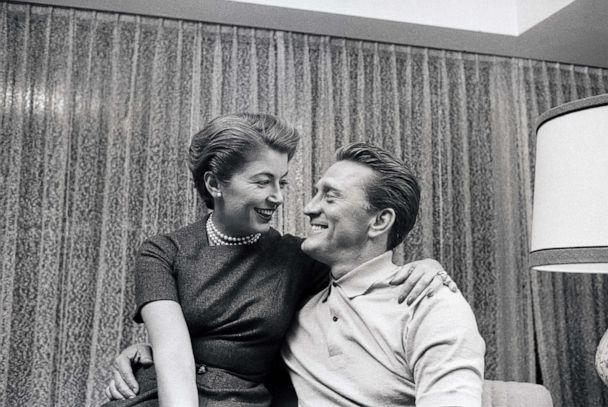 PHOTO: Actor Kirk Douglas and his wife, Anna after his nomination for an Academy Award by the Motion Picture industry, Feb. 18th, 1957. (Bettmann Archive via Getty Images, FILE)
