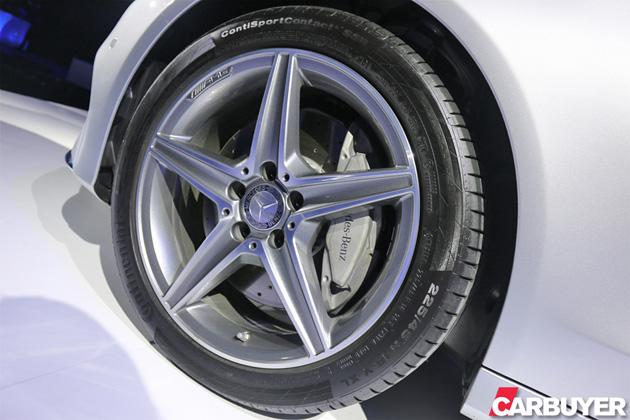 The AMG Line is spec'd with the biggest wheels and beefiest brakes