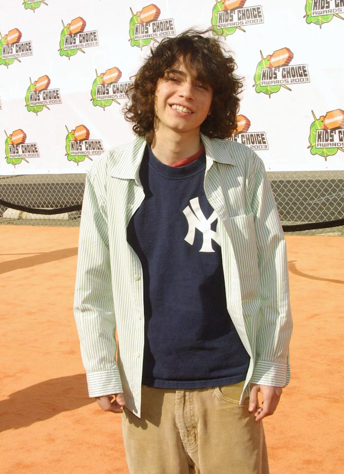 SANTA MONICA, CA - APRIL 12:  Actor Adam Lamberg poses during arrivals for Nickelodeon's 16th Annual Kids' Choice Awards at the Barker Hangar April 12, 2003 in Santa Monica, California.  (Photo by Frederick M. Brown/Getty Images)