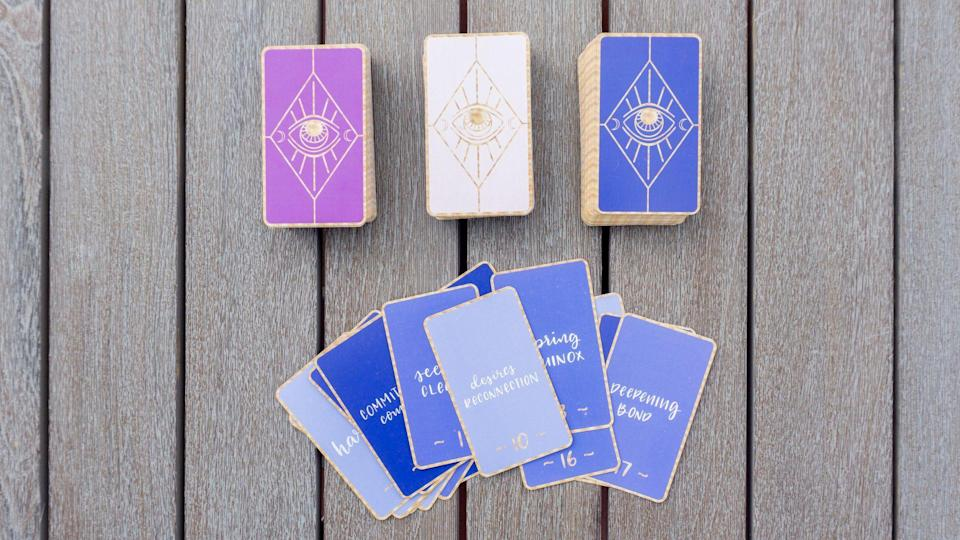 """<p>prettyspirits.com</p><p><strong>$50.00</strong></p><p><a href=""""https://prettyspirits.com/collections/truth-decks/products/the-truth-decks-2nd-edition"""" rel=""""nofollow noopener"""" target=""""_blank"""" data-ylk=""""slk:Shop Now"""" class=""""link rapid-noclick-resp"""">Shop Now</a></p><p>Help your Sagittarius tune into their intuitive side with an oracle deck.</p>"""