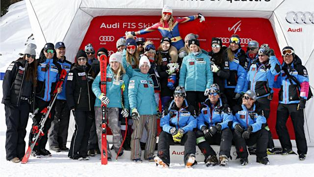 Wonder Woman was in attendance at the FIS Alpine Skiing World Cup event in Cortina d'Ampezzo on Friday.