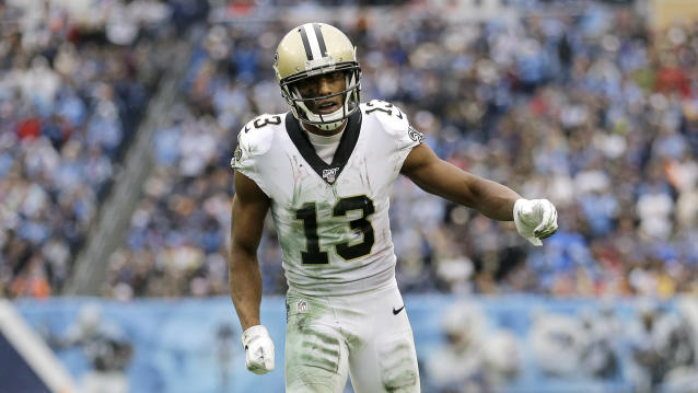 Michael Thomas wants players to vote no on NFL CBA. (AP Photo/James Kenney)