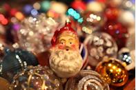 """<p>The <a href=""""https://christmashq.com/decorations/ornaments/"""" rel=""""nofollow noopener"""" target=""""_blank"""" data-ylk=""""slk:first Christmas ornaments"""" class=""""link rapid-noclick-resp"""">first Christmas ornaments</a> sold commercially were made by a German manufacturer in the 19th century. Today, the heavy, glass-blown ornaments known as """"kugels"""" can fetch anywhere from $50 to more than $1,000. Identify them by their vibrant colors and fruit shapes, like apples and berries.</p>"""