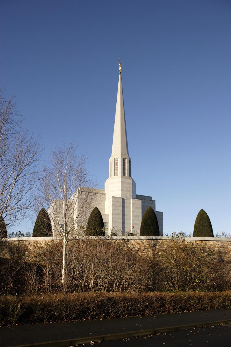 The Mormon Temple, Chorley, United Kingdom, Architect Building Design Partnership, 1998, The Mormon Temple View From Walkway Below Church (Photo By View Pictures/UIG via Getty Images)