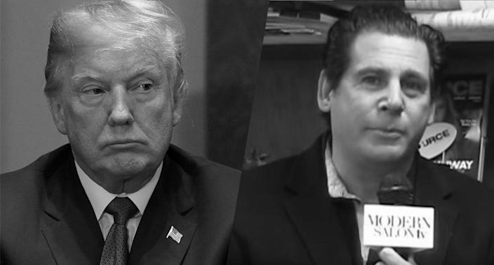 Trump and Leandro Rizzuto Jr. (Photos: Getty Images/YouTube – Salon.com)