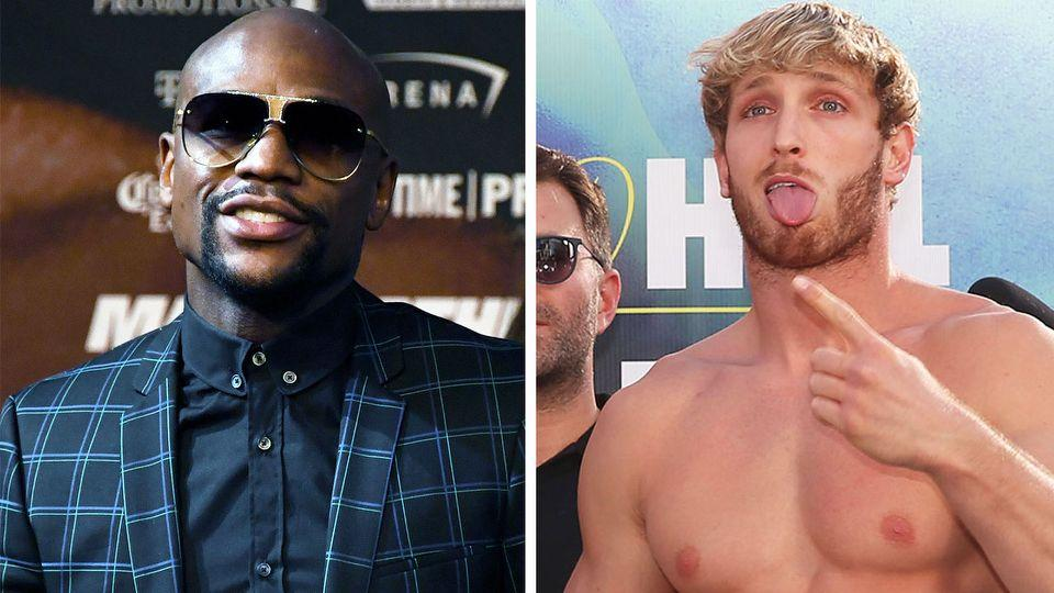Seen in this picture, boxing great Floyd Mayweather and Youtube star Logan Paul.