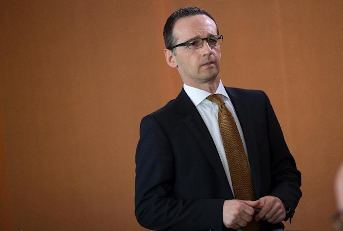 German Justice Minister Heiko Maas said Facebook was required to delete posts in violation of German laws against incitement of racial hatred (AFP Photo/Johannes Eisele)