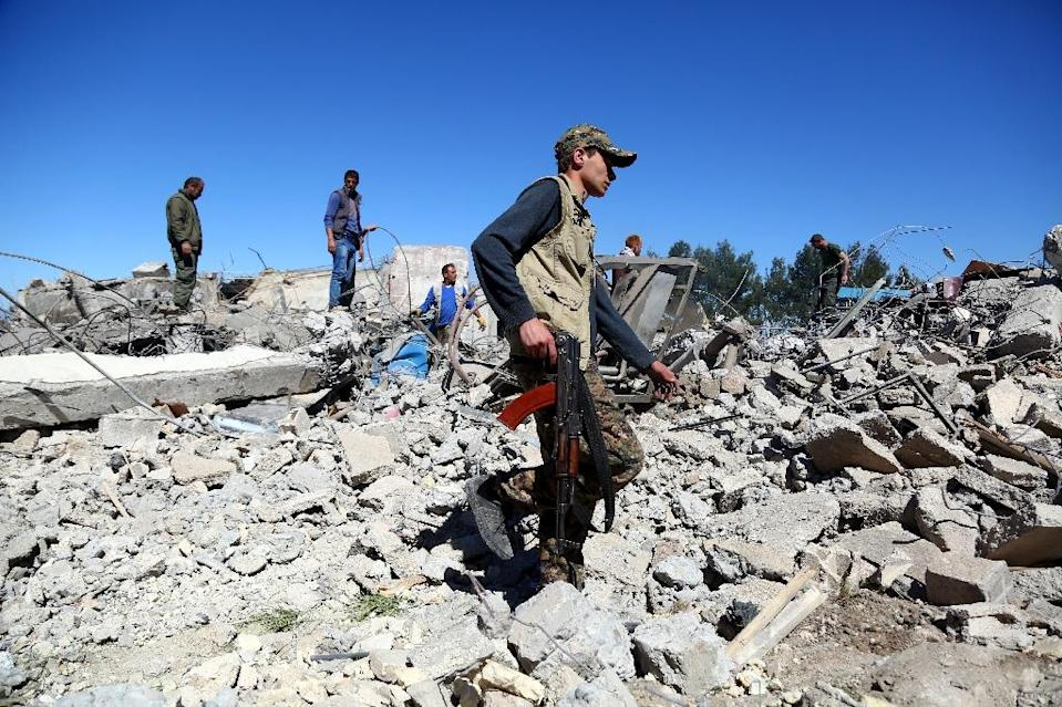 Turkish airstrikes in Syria have targeted Kurdish People's Protection Units -- Turkey considers the group a terror outfit (AFP Photo/DELIL SOULEIMAN)