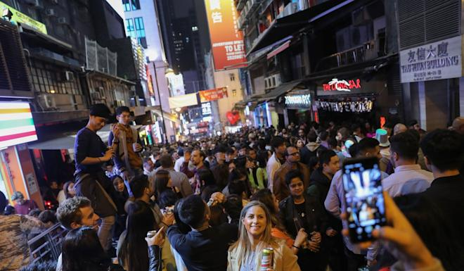 Lan Kwai Fong has been an international party destination for years but many venues now face a struggle to survive. Photo: Sam Tsang